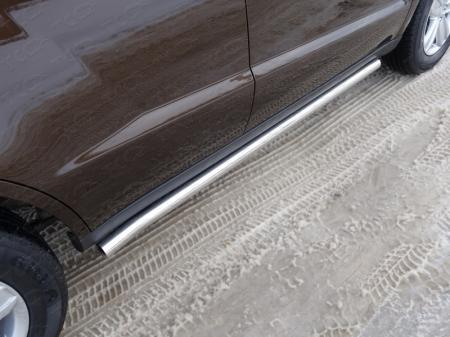 Geely Emgrand X7 2015- Пороги труба 60,3 мм